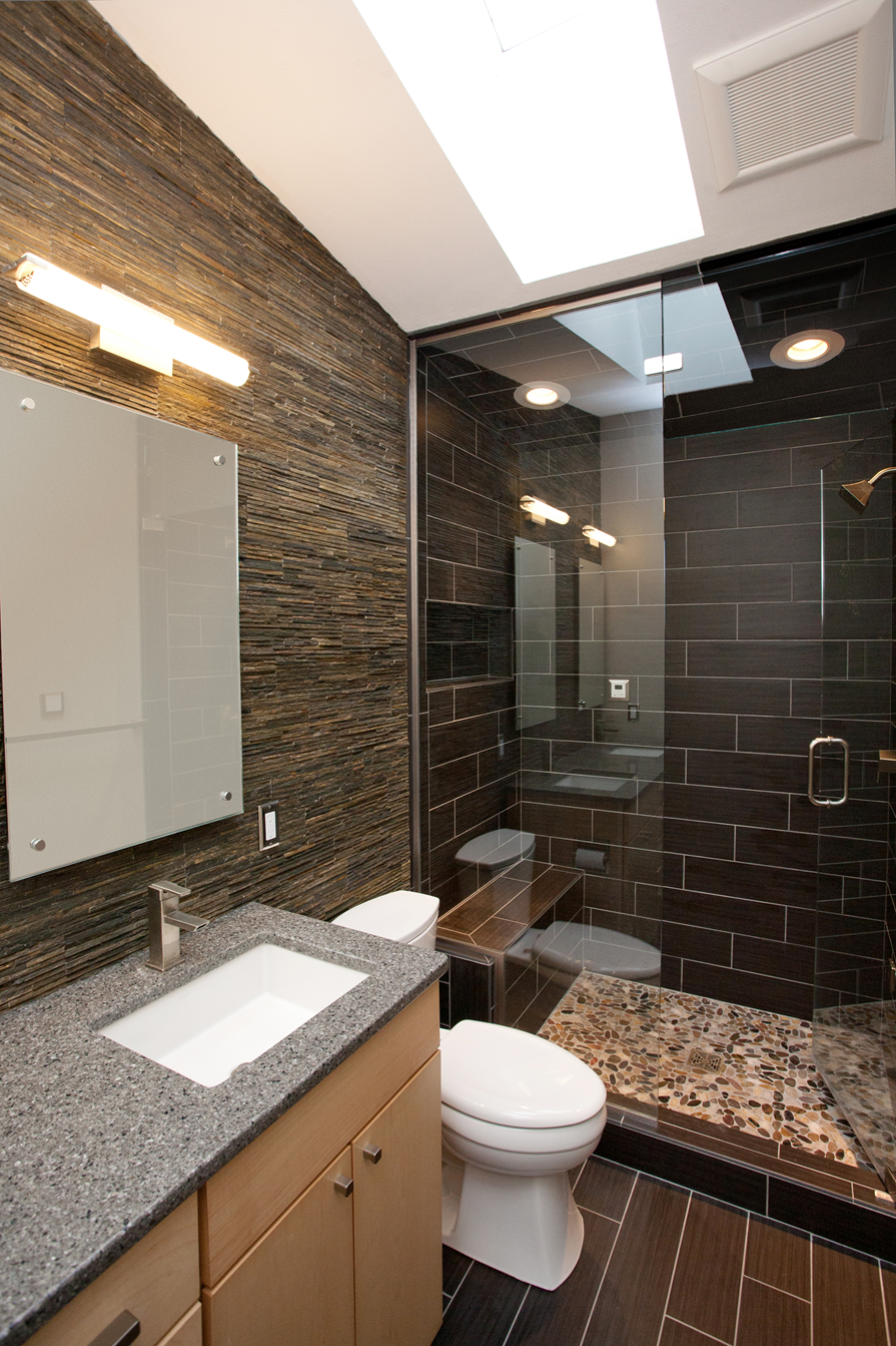 Contemporary Spa Like Bath Remodel with Steam Shower ...